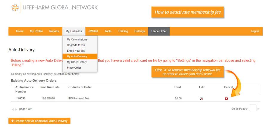 how to remove laminine membership fee